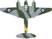 OXAC067 | Oxford Die-cast 1:72 | DH Mosquito FB VI, RAF, 204 AFS Brize Norton 1949 | is due:TBC