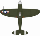 OXAC063 | Oxford Die-cast 1:72 | P47D Thunderbolt, USAAF, Europe 1943 | is due: TBC