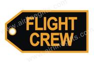 TAG207 | Bag Tags | Luggage Tag - Flight Crew (golden/black)