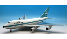 IF747SP0516P | InFlight200 1:200 | Boeing 747SP Luxair LX-LGX (polished, with stand)