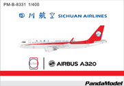 PM-B-8331 | Panda Models 1:400 | Airbus A320 Sichuan Airlines B-8331, 'CFM' | is due: May 2016