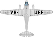OX72DR013 | Oxford Die-cast 1:72 | Dragon Rapide VH-UFF, Australian National Airways | is due : TBC
