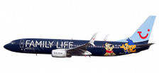 611145 | Herpa Snap-Fit (Wooster) 1:200 | Boeing 737-800 Jetairfly OO-JAF, 'Family Life Hotels' (plastic) | is due: September / October 2016