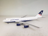 JF-747-4-015 | JFox Models 1:200 | Boeing 747-400 British Airways G-BNLG, 'Hybrid Landor c/s' (with stand)