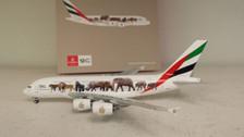 GJUAE1594 | Gemini Jets 1:400 1:400 | Airbus A380 Emirates A6-EEQ, 'Wildlife #5'