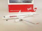 558471 | Herpa Wings 1:200 1:200 | Bombardier CS100 Swiss HB-JBA (die-cast)