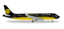 558167 | Herpa Wings 1:200 1:200 | Airbus A320 Eurowings D-AIZR, 'BVB Mannschaftsairbus' (plastic)