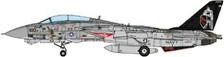 JCW-72-F14-003 | JC Wings Fighters 1:72 | F-14A Tomcat US Navy, VF-154 Black Knights, CV-63  USS Kitty Hawk 1998