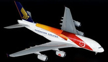 JC2235 | JC Wings 1:200 | Airbus A380 Singapore 9V-SKJ, '50th' (with stand) | is due: August 2017