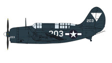 HA2213 | Hobby Master Military 1:72 | SB2C-4E Helldiver No. 203, VB-87, USS Ticonderoga, May 1945 | is due: January 2018