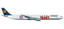 530897 | Herpa Wings 1:500 | Airbus A340-600 Lufthansa D-AIHZ, 'FC Bayern Audi Summer Tour' | is due: November / December 2017