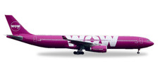 530743 | Herpa Wings 1:500 | Airbus A330-300 WOW air TF-WOW | is due: November / December 2017