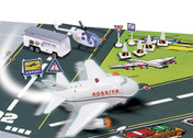 FPAPS163 | Toys Younger Selection | Airport Play Set with Pull Back Fun Plane ,Bus,Helicopter & Mat- Rossiya (with light and sound)