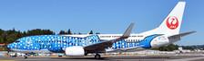XX4025 | JC Wings 1:400 | Boeing 737-800 Japan Transocean Air JA05RK, 'Jinbei Jet' | is due: November 2017