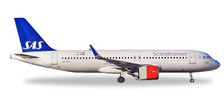 531054 | Herpa Wings 1:500 | Airbus A320neo SAS Scandinavian LN-RGL, 'Sol Viking' | is due: January / February 2018