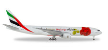 531009 | Herpa Wings 1:500 | Boeing 777F Emirates SkyCargo A6-EFL, 'With Love' | is due: January / February 2018
