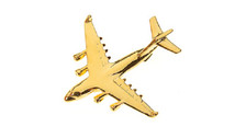 CL097 | Clivedon Collection | Plane Pin 3D - C-17 Globemaster III (golden, with box)