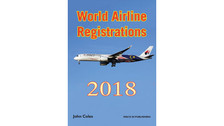 WAR18V1P | Mach III Publishing Books | World Airline Registrations 2018 - John Coles (pages only) | is due: February 2018