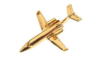 CL223 | Clivedon Collection | Plane Pin 3D - Lear Jet (gold-plated, with box)