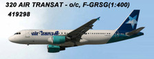 AC419298 | Aero Classics 1:400 | Airbus A320 Air Transat F-GRSG (blue star) | is due: June 2018