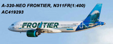 AC419293 | Aero Classics 1:400 | Airbus A320neo Frontier N311FR, 'Dolphin' | is due: June 2018