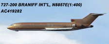 AC419282 | Aero Classics 1:400 | Boeing 727-200 Braniff N8857E, 'Gold' | is due: June 2018