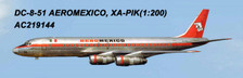 AC219144 | Aero Classics 200 1:200 | DC-8-50 AeroMexico XA-PIK | is due: June 2018