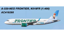 AC419295 | Aero Classics 1:400 | Airbus A320neo Frontier N318FR, 'Hummingbird' | is due: July 2018