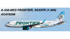 AC419296 | Aero Classics 1:400 | Airbus A320neo Frontier N323FR, 'Bighorn Sheep' | is due: July 2018