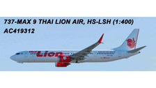 AC419312 | Aero Classics 1:400 | Boeing 737 MAX 9 Thai Lion Air HS-LSH | is due: July 2018
