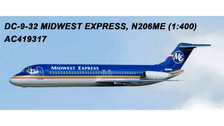 AC419317 | Aero Classics 1:400 | DC-9-30 Midwest Express N206ME | is due: July 2018