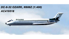AC419318 | Aero Classics 1:400 | DC-9-30 Ozark Airlines N988Z | is due: July 2018