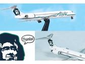 JX080 Jet-x 1:400 McDonnell Douglas MD-80 Alaska Airlines Two Plane Set