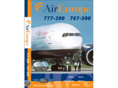 AEL1 World Air Routes (Just Planes) DVD Air Europe 777-200, 767-300 251 Minutes, Double DVD Set