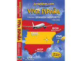 ESP1 Just Planes DVD Viva Espana, 5 Busiest Spanish Airports 262 Minutes