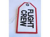 TAG200 | Bag Tags | Luggage Tag - Flight Crew (white)