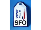 "TAG046 Bag Tags Luggage Tag British Airways ""SFO"""