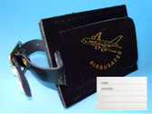 LT003 | A380 Leather Luggage Tag (black)