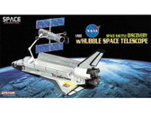 DRW56259 Dragon Aerospace 1:400 Space Shuttle NASA 'Discovery' w/Hubble Space Telescope