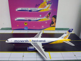 RUS010 Russell Models 1:200 Boeing 757-200 Monarch Airlines 'HedKandi' G-MONJ (2008)