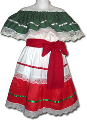 Mexican Fiesta Traditional Dress Size 8