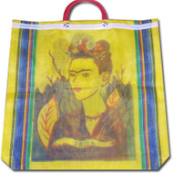 Frida Kahlo Mexican Mercado Plastic Shopping Bag