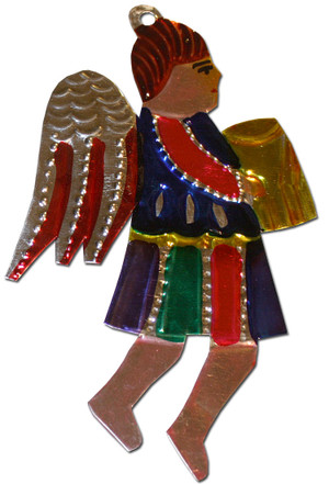 Mexican Tin Christmas Ornament - Angel