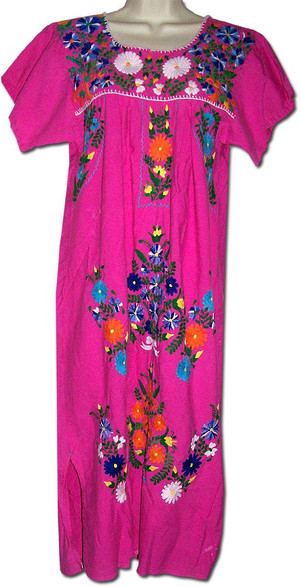 Embroidered Vintage Mexican Dress S/M