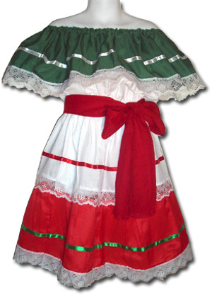 Mexican Fiesta Traditional Dress Size 10