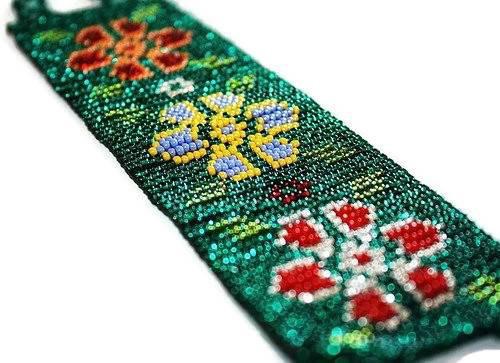 mexican huichol floral beaded bracelet my mercado