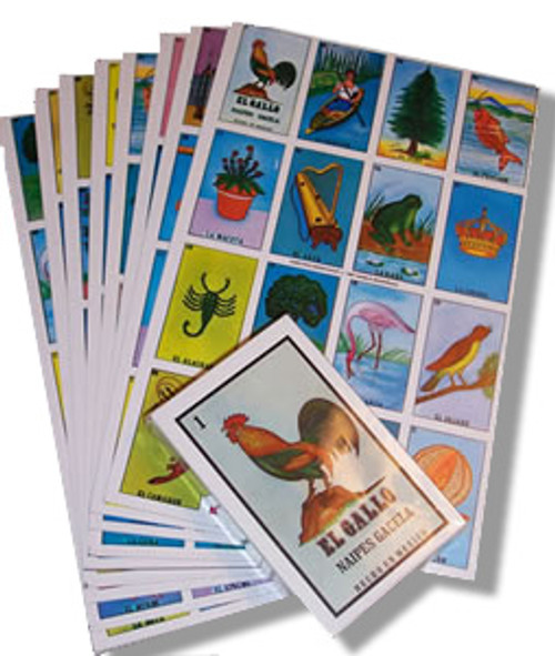 Mexican Loteria Game - 10 Cards