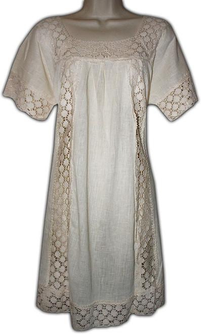 Mexican Manta Lace Dress