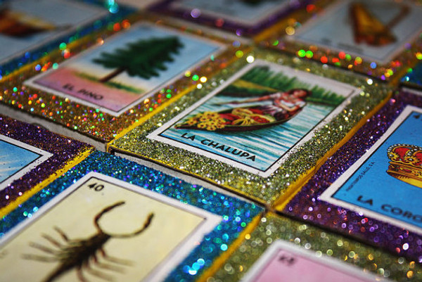 Mexican Wedding Favors Loteria Matchboxes - Set of 100
