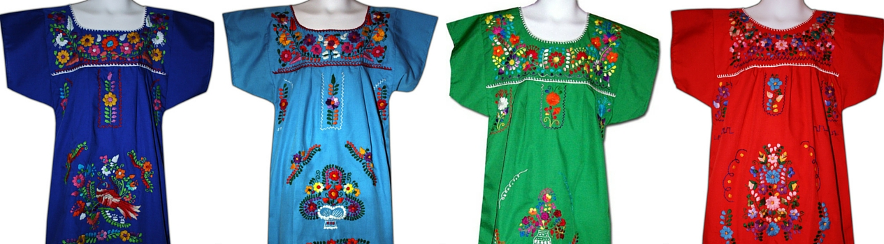 Embroidered Mexican Dresses